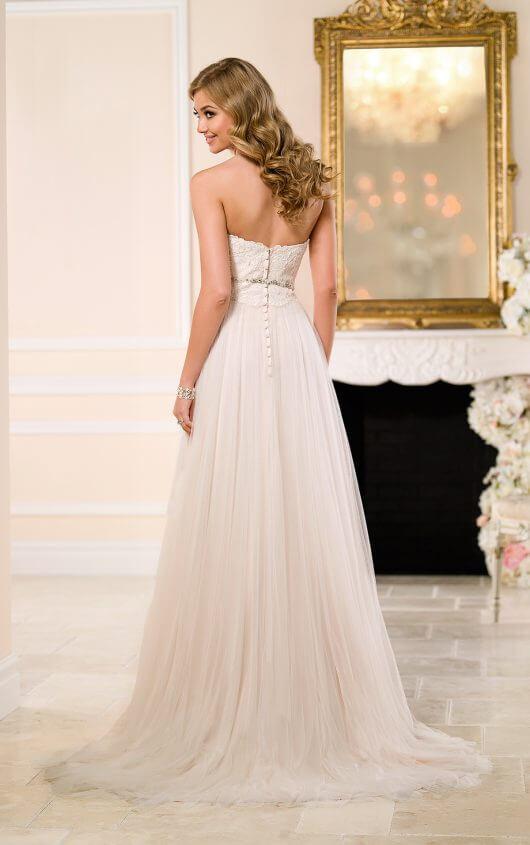 Wedding dress 6025 back